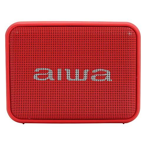 Aiwa BS-200BK: Altavoz Inalámbrico Portátil Bluetooth, True Wireless Stereo, Impermeable, Color Rojo