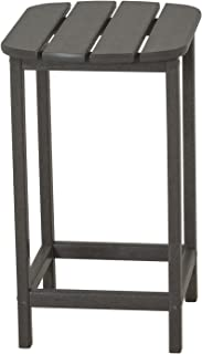 POLYWOOD SBT26GY South Beach Counter Side Table, 26-Inch, Slate Grey (Renewed)