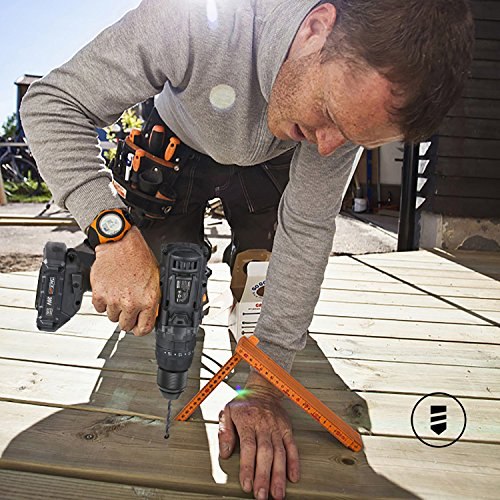 """TACKLIFE 20V Cordless Drill, 35N.m, 43pcs, 1 Hour Fast Charger & 2.0Ah Li-ion Battery, Hammer Drill with 0-1600RMP Variable Speed, 1/2"""" Metal Chuck, 16+3 Clutch, Drilling Wood, Metal, Cement - PCD04B"""