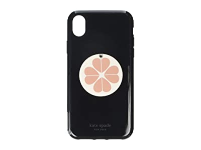 Kate Spade New York Flower Swivel Mirror Phone Case for iPhone XR (Black Multi) Cell Phone Case
