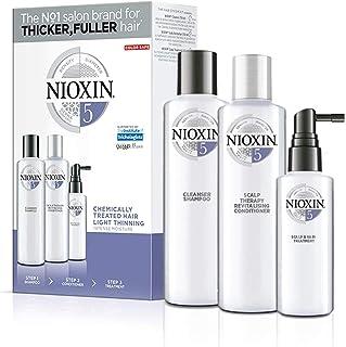Nioxin Kit de 3 Pasos Sistema 5 - Tratamiento para Cabello Tratado con Químicos Ligeramente Debilitado (Champú 300 ml Aco...