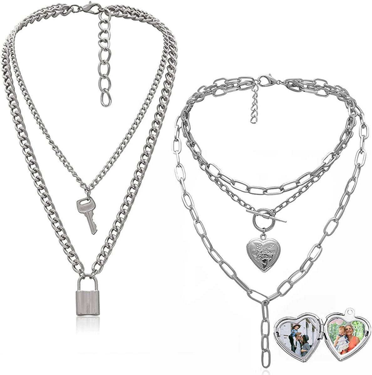 Ingemark Statement Cool Punk Chunky Toggle Chain Wo for Necklace Inexpensive Max 63% OFF