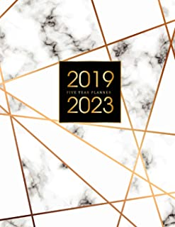 2019-2023 Five Year Planner: Elegant Marble, 60 Months Calendar, 5 Year Appointment Calendar, Business Planners, Agenda Schedule Organizer Logbook and ... (5 Year Monthly Planner 2019-2023) (Volume 5)