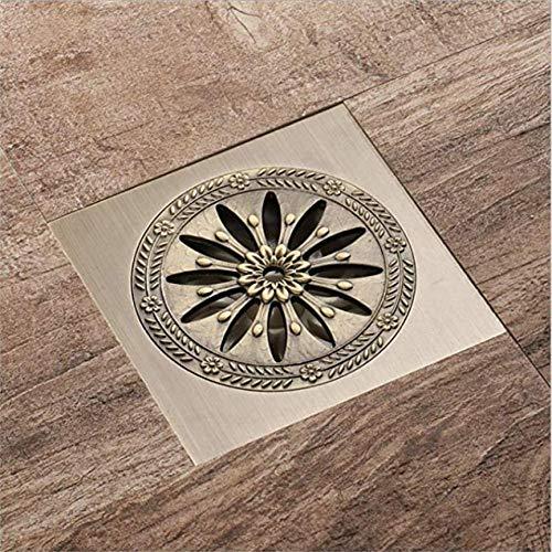 mazhant Galvanik Entwässerung Kommunikation Bodenablauf Messing Blume Deodorant Badezimmer Küche antike Bronze Dusche Bodenablauf