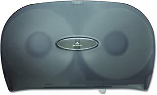 "Two-Roll Jumbo Jr. Toilet Paper Dispenser by GP PRO (Georgia-Pacific), Translucent Smoke, 59209, 20.020"" W  x 5.670""  D x 12.260"" H"