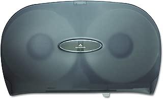 Two-Roll Jumbo Jr. Toilet Paper Dispenser by GP PRO (Georgia-Pacific), Translucent Smoke, 59209, 20.020