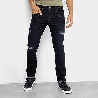 fd0a1d56b8 Calça Jeans Skinny Zune Rasgos e Pespontos Masculina