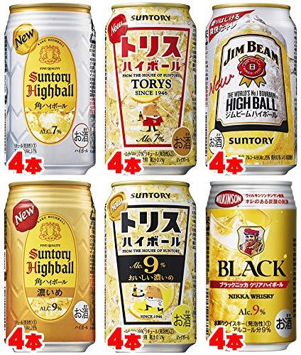 ウイスキーハイボール 飲み比べバラエティ350ml×24缶 (6種バラエティ)