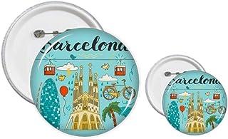 Kit de création de badges et de boutons Motif Barcelone espagnol Sagrada Familia
