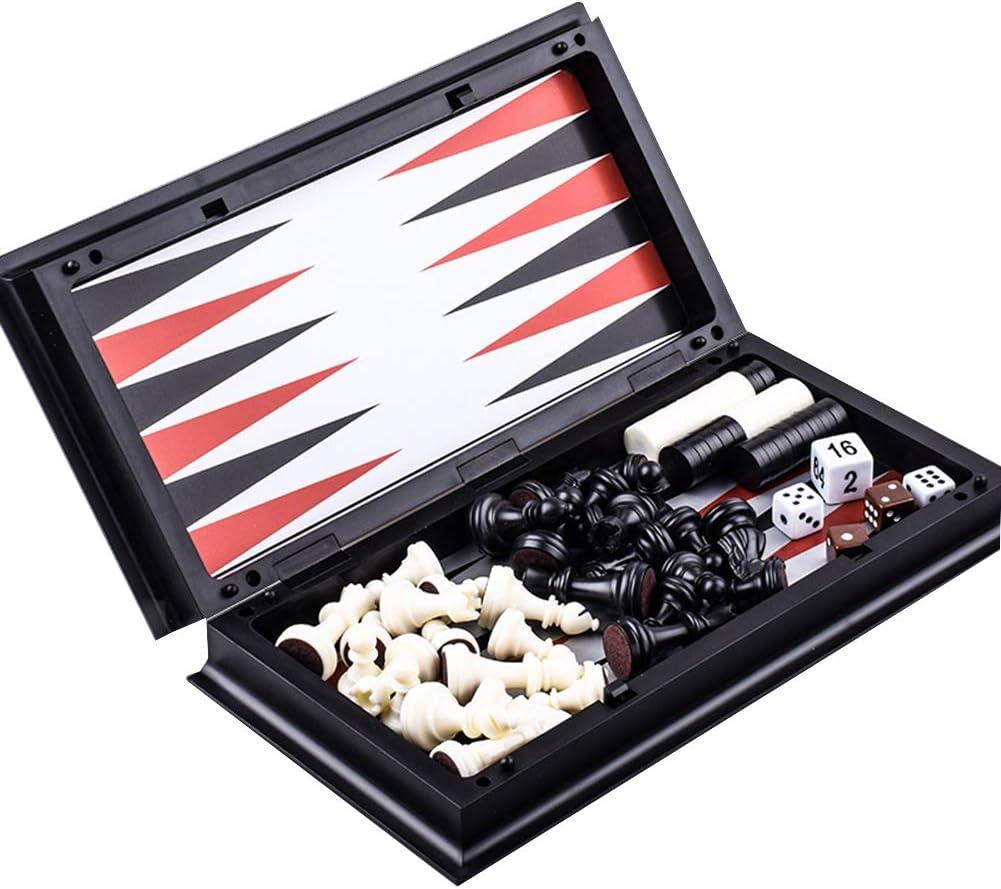 heaven2017 3 in 1 Magnetic Backgammon Special Campaign Chess G Board Atlanta Mall Checkers Set