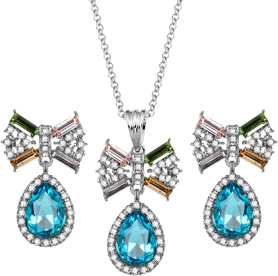 Urns Ashes Funeral Deals Women Fashion Rhinestone Bowknot Drop Earrings Pendant Necklace Jewelry Set Gift,Colour:Champagne Pet Memorial Dog cat Urn (Color : Blue)