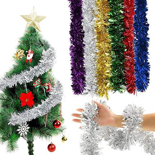 YNOUU Christmas Tinsel Garland Short Tinsel Decoration...