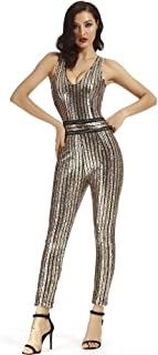 ca69bf01b251 Whoinshop Women s Sexy Deep V Neck Jumpsuit Stretch Bodycon Party Romper  Pants