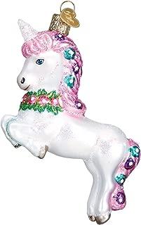 Old World Christmas Glass Blown Ornament Prancing Unicorn