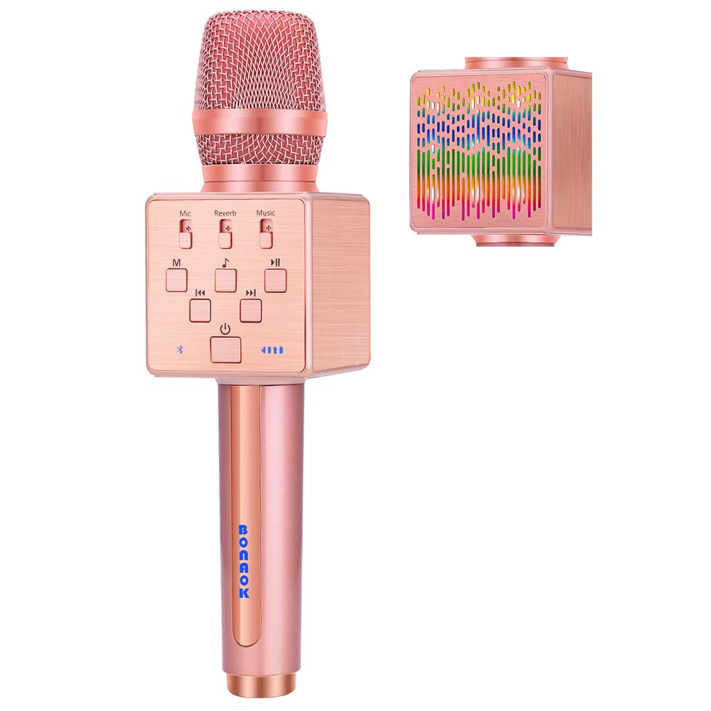 BONAOK Bluetooth Microphone Controllable Rechargeable