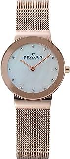 Skagen 358srrd Rose Gold Ion Plated Stainless Steel Mesh Bracelet Watch Watch For Women
