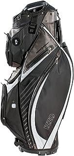 Izzo Gemini Cart Golf Bag - Black, Red, Green or Blue - Golf cart Bag, Golf Club cart Bag, Magnetic Ball Pockets and has Large Beverage Cooler