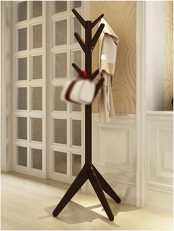 ZCYX Coat Rack Floor Solid Wood Creative Hanger Floor Bedroom Hanger Simple Modern Simple Hanging Clothes Rack - Hanger Hooks