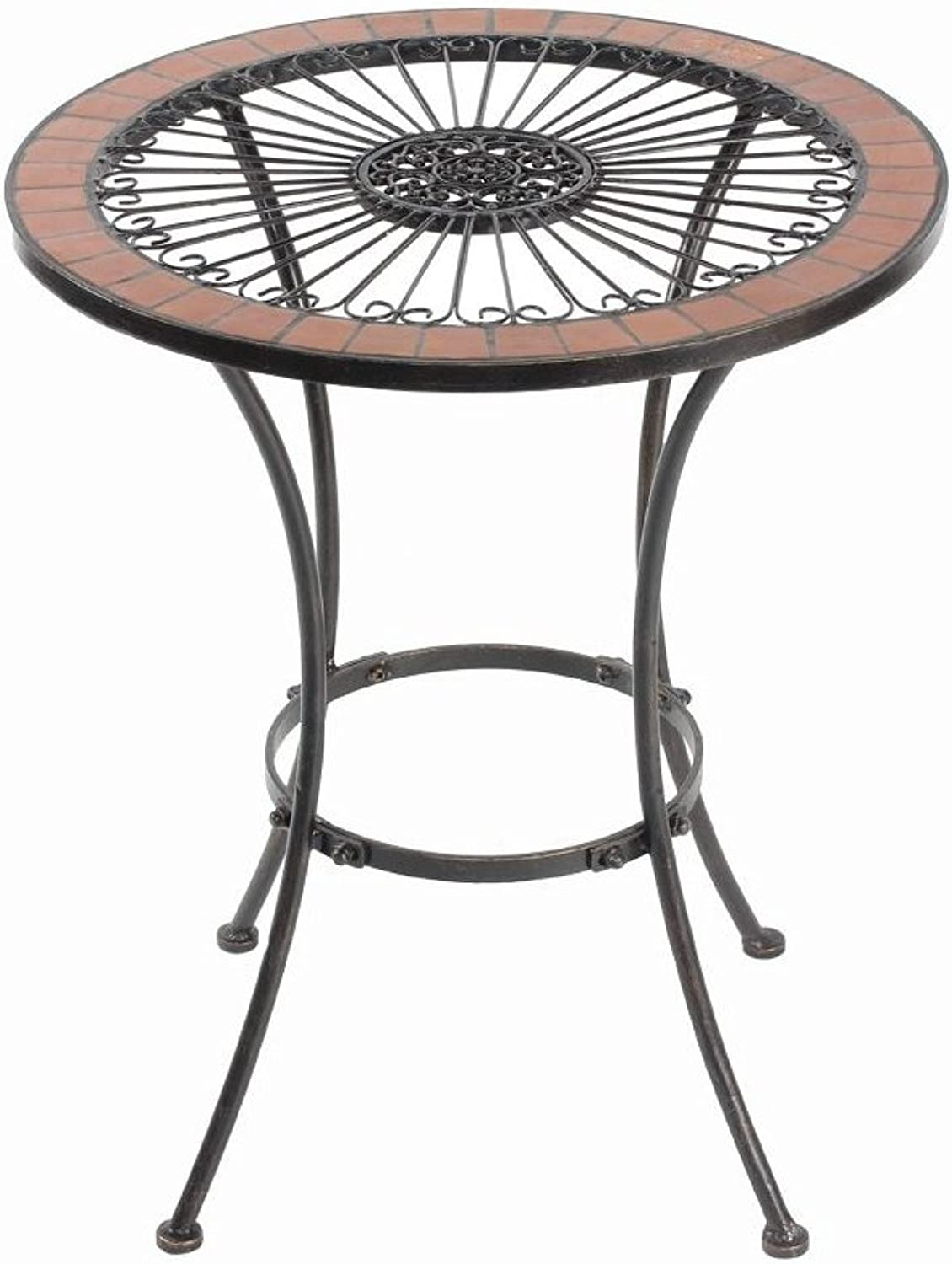 Essential Decor Entrada Collection GL79998 Round Mosaic Table