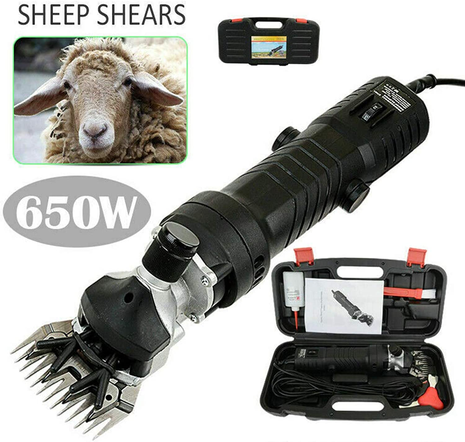 GJRTIMAOJI 650W 110V Electric Animal Sheep Goat Pet Shears Clipper Shearing Farm Supplies