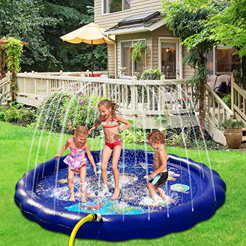 TUPARKA 170cm Wassermatte,Wasserspielzeug Kinder ,Garten Wasserspielzeug Baby Pool Pad Spritzen für Baby, Kinder
