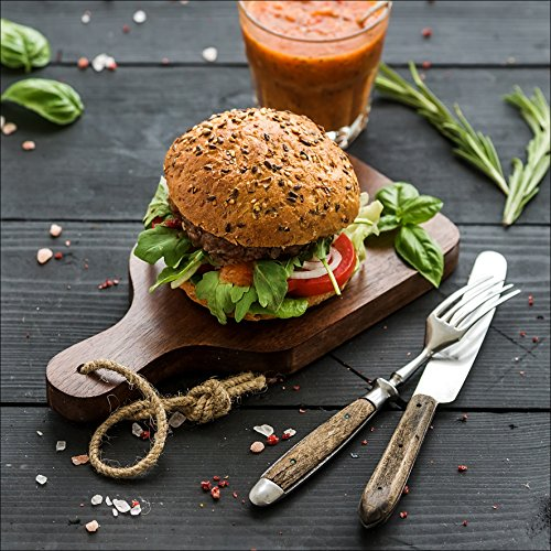 Pro-Art-Bilderpalette Veggie Burger I Glas-Art, bunt, 20 x 20 x 1,3 cm