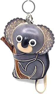 MOREFUN Genuine Leather Koala Coin Purse Change Card Pouch Wallet Zipper Handbag