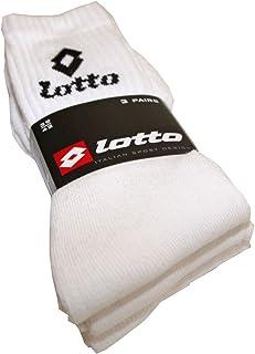 Lotto, Calcetines deportivos para hombre y mujer (3 pares)