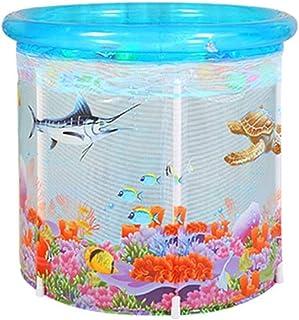 WGNHM Infant Transparent Swimming Pool,Home Baby Bath Barrel Child Newborn Swimming Barrel Thickened Insulation