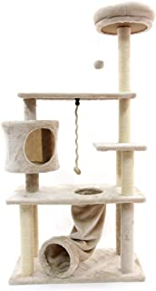 CUPETS Wooden Cat Tree Modern Cat Furniture Cat Condo with House,Cat Scratching Post Indoor for Cats and Kittens