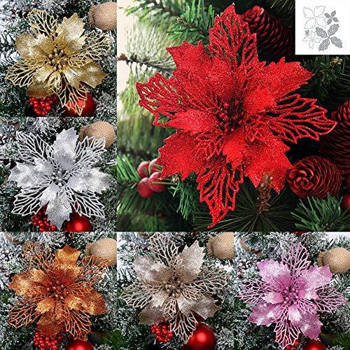 Lai-LYQ Stanzmaschine Stanzschablone, Weihnachtsdekoration Blume Scrapbooking Prägeschablonen Papier Handwerk Deko Festival Karten Geschenk Weihnachten