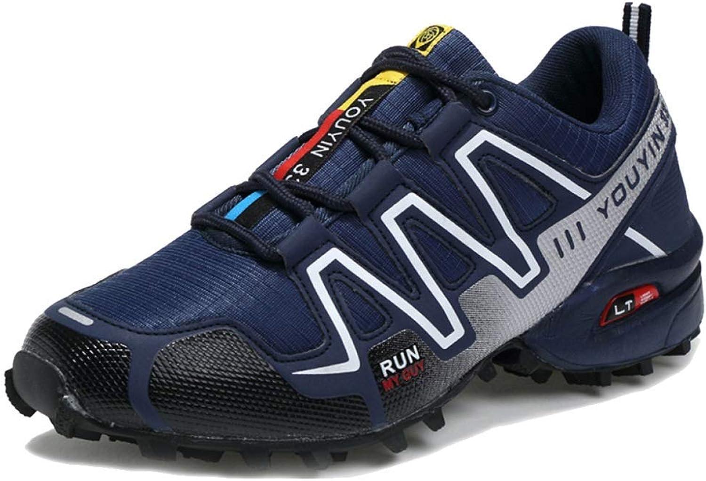 DSX Trainer Trainer für Herren Outdoor Sports Schuhe Wandern Trekking Schuhe Bergsteigen Schuh Turnschuhe für die Reise, Blau, 48EU