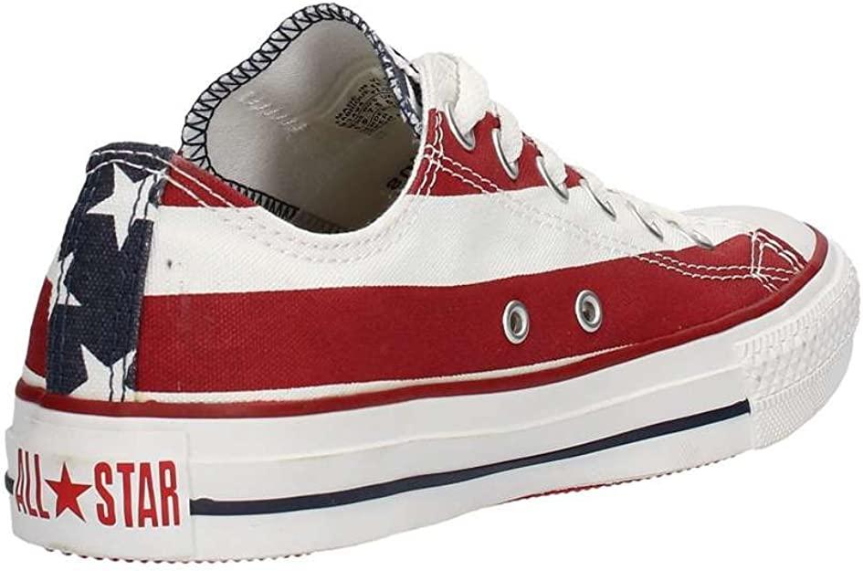 Converse Unisex Chuck Taylor All Star American Flag Ox White/Blue/Red Sneaker