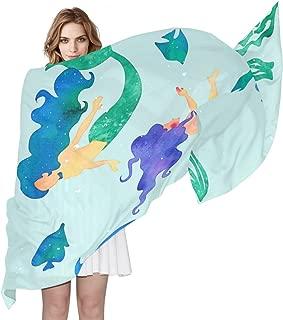 LEISISI Womens Fashion Pattern Silk Scarf Lightweight Shawl Soft Long Scarves