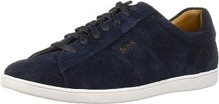Hugo Boss Mens 50407401 Rumba Low Top Suede Tennis Sneaker