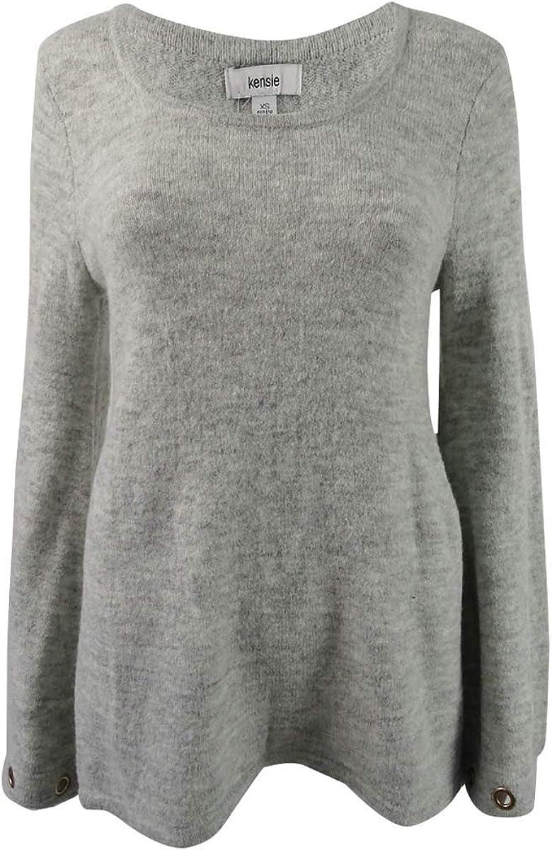 Kensie Women's Soft Grommet-Sleeve Sweater