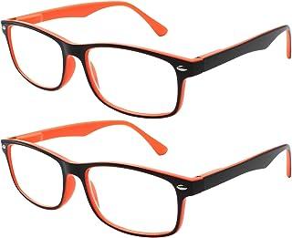 d1f51e79b0 TBOC Gafas de Lectura Presbicia Vista Cansada - (Pack 2 Unidades) Graduadas  +2.50