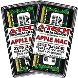 A-Tech 32GB (2x16GB) RAM for Apple 2017 iMac 27 inch Retina 5K, 21.5 inch Retina 4K | DDR4 2400MHz PC4-19200 SO-DIMM 260-Pin CL17 1.2V Non-ECC Unbuffered Memory Upgrade Kit