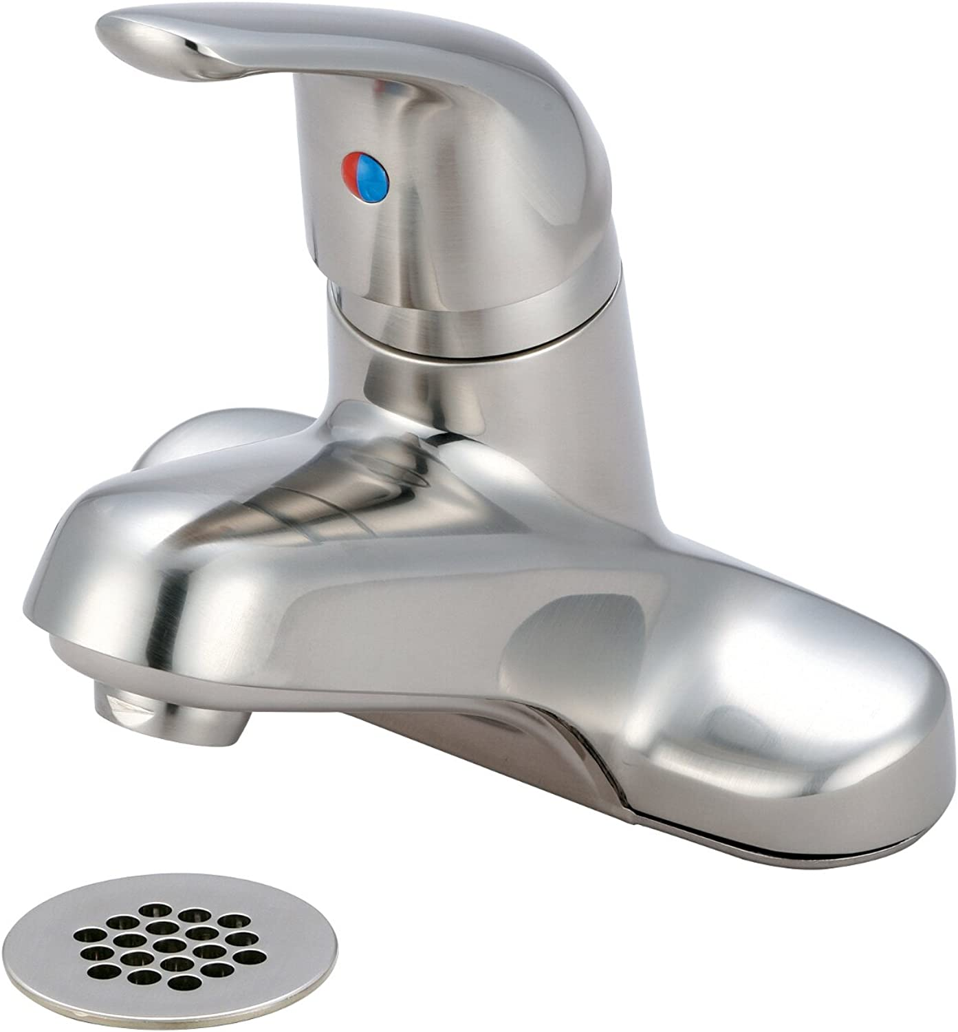 Olympia Faucets L-6161G-BN Single Handle Lavatory Faucet, PVD Brushed Nickel Finish