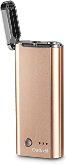 Power Bank Lighter with LED Torch - Daffodil EC300 - USB Rechargeable Electronic Lighter with Powerbank and LED Torch - Gold