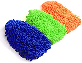 3 Pack Car Wash Mitt- Extra Large Size Clean Tools Kits- Premium Chenille Microfiber Car Wash Mitt Car Cleaning Tool