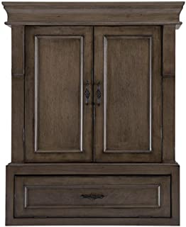 Naples 26-1/2 in. W x 32-3/4 in. H Bathroom Storage Wall Cabinet in Distressed Grey
