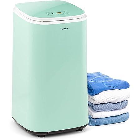 KLARSTEIN Zap Dry - Sèche-Linge, 820 W, capacité: 50 L, Design UniqueDry, Compact, Tambour en INOX, boîtier en Plastique, Commande Tactile, Couvercle en Verre de sécurité - Vert