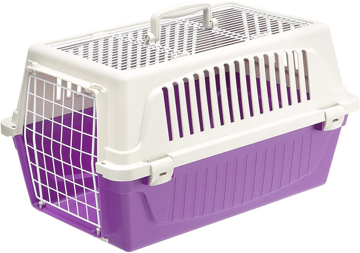 Ferplast Atlas 20 Top Opening Cat and Dog Carrier, Purple