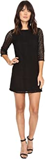 Michael Stars Women's Lace 3/4 Sleeve Shift Dress