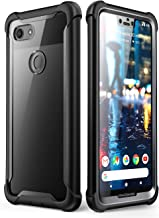 i-Blason Ares Full-Body Rugged Clear Bumper Case for Pixel 3 XL 2018 Release, Black