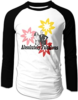 Creamfly Mens Absolutely Fabulous The Movie Poster Long Sleeve Raglan Baseball Tshirt