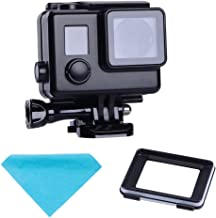 Suptig Replacement Waterproof Case Protective Black Housing Touch housing for GoPro Hero 4 Hero 3+ Hero3 Outside Sport Camera for Underwater Use Water Resistant up to 147ft (45m)