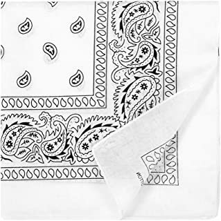 12pcs 100% Cotton Bandana Scarf, Supreme Paisley Print Cowboy-Style Bandana, Head Wrap Scarf for Men Women and Girls