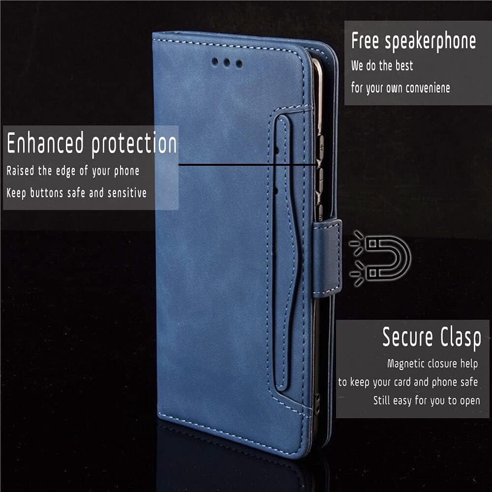 T-Mobile Revvl V+ 5g Case Wallet, Tmobile Revvl V+ 5g Phone Case T-Mobile, (Blue) Tmo Revvl V+ 5g Case Wallet Phone Case for Revvl V+5g Case Wallet Leather Flip Cases with Card Holder